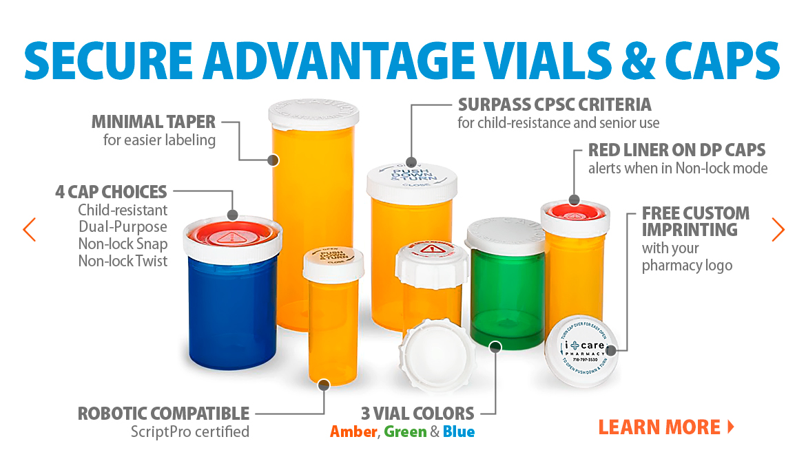 Secure Advantage vials & caps features